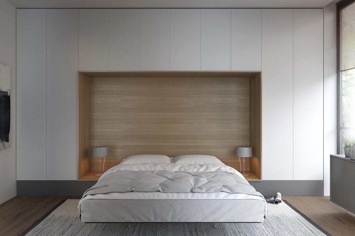 comfortable simple bedroom