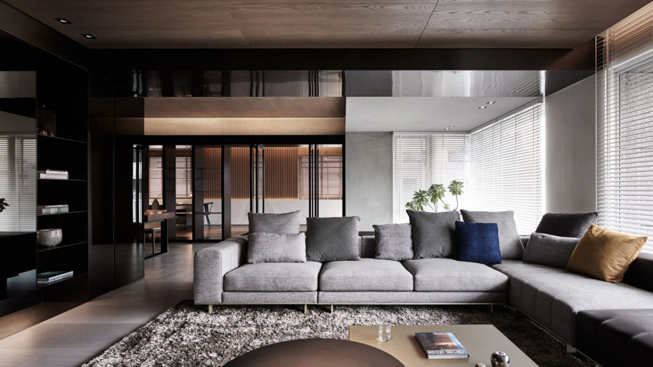 Sophisticated Modern Design Apartment With Dark Color Concept Nuance Roohome