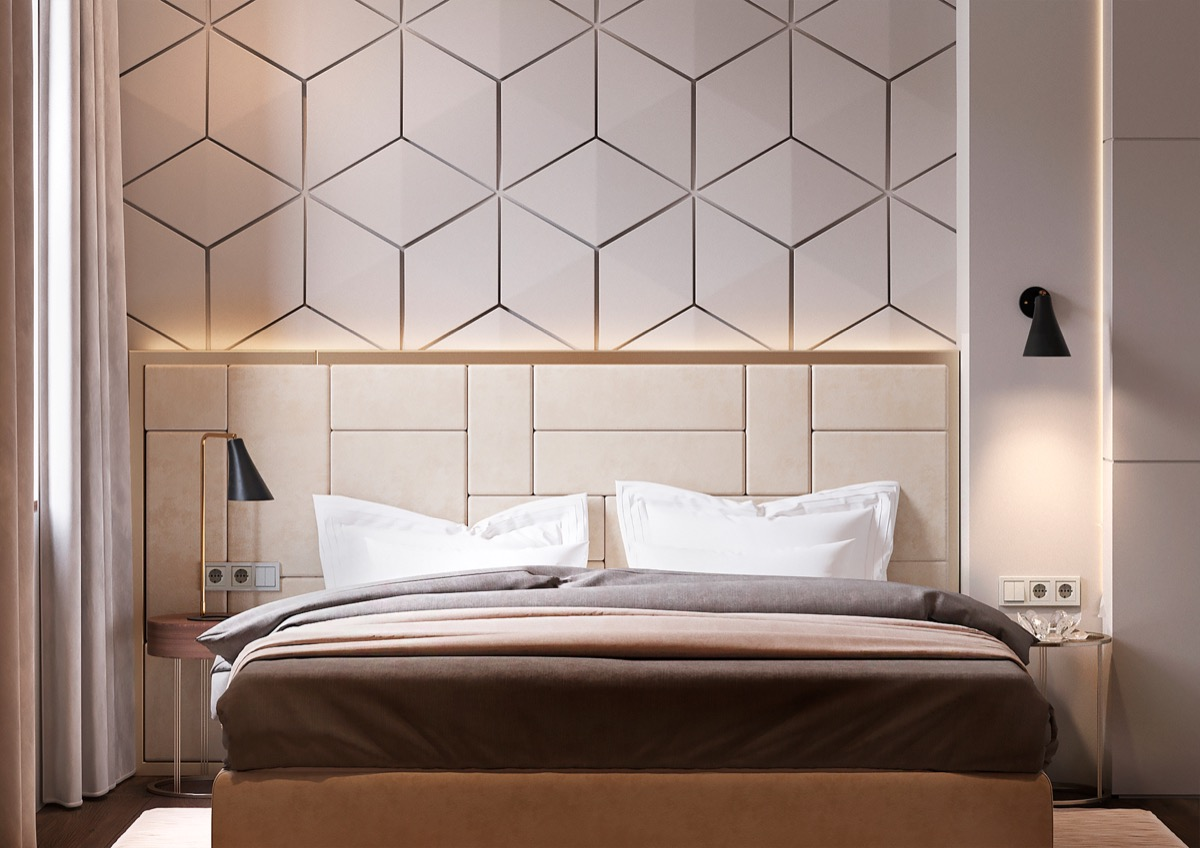 Beautiful bedrooms with creative accent wall ideas looks stylish roohome - Accent wall in small bedroom ...