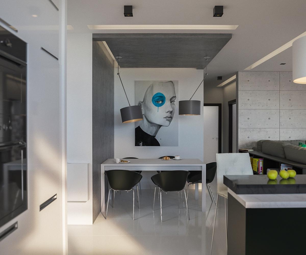 gray modern-dining room