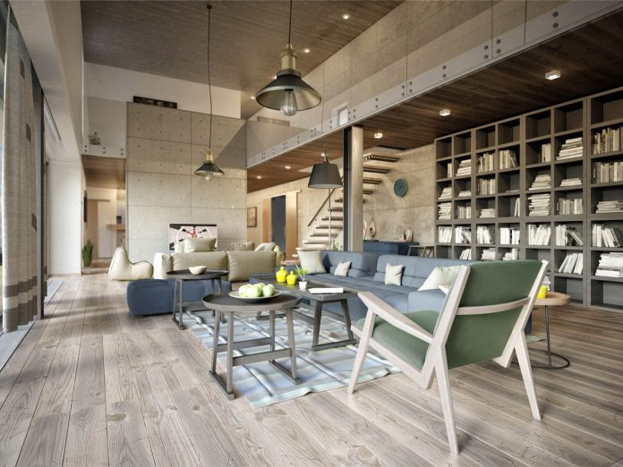 3 Eclectic Modern Apartment Layout With Industrial
