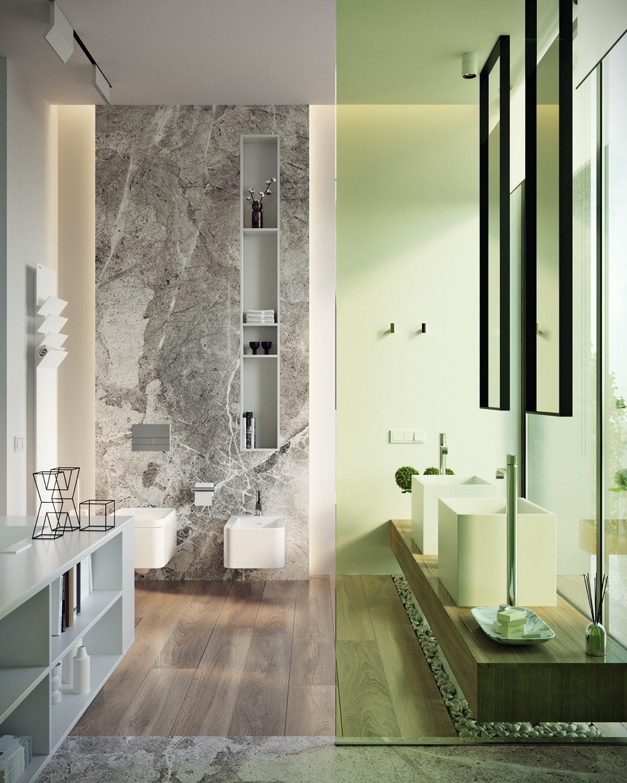 light-green-modern bathroom