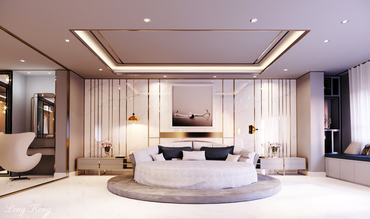 luxury-bedroom-with-gold-and-marble-accents wall