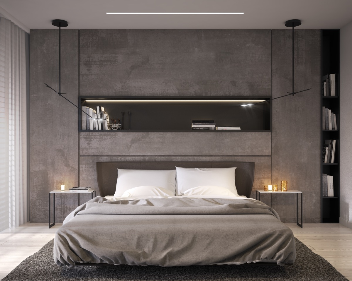minimalist-concrete-bedroom wall