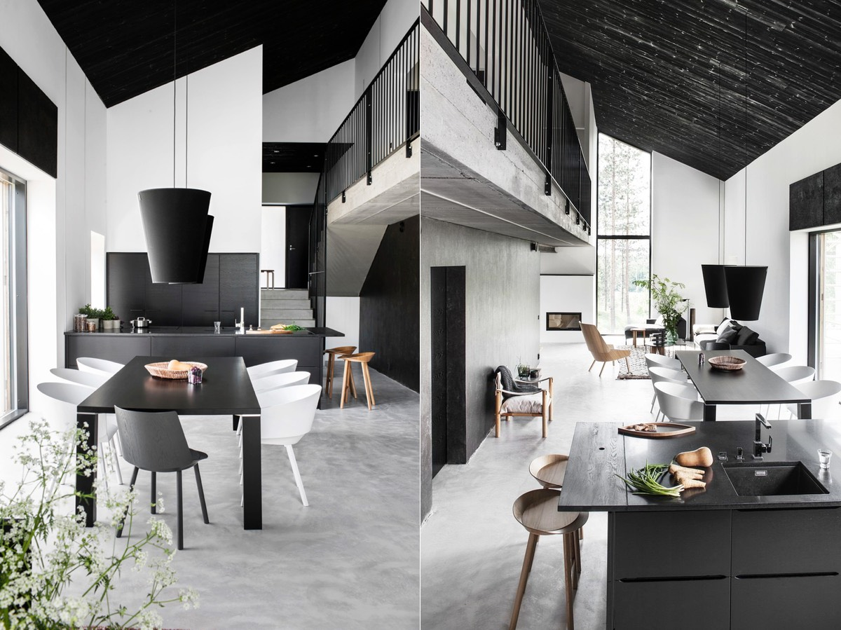 Modern Minimalist Monochrome Dining Room