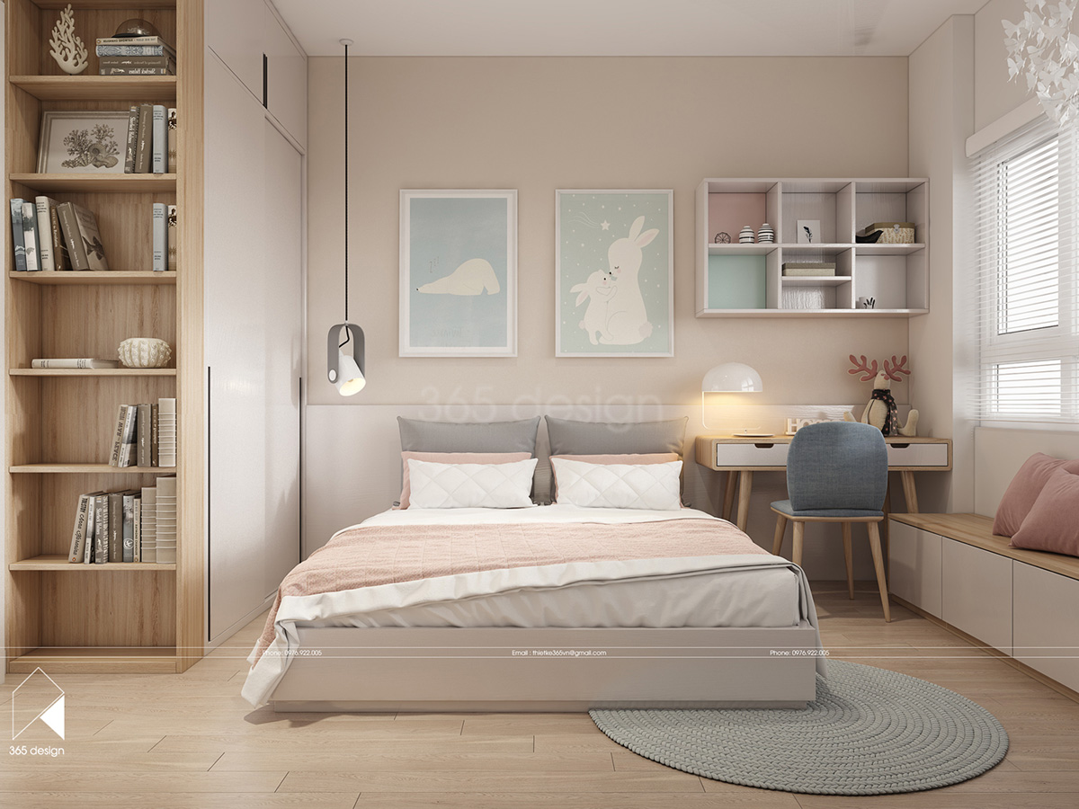 pretty-kids-room Scandinavian concept design