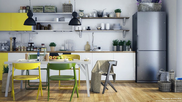 simple-Scandinavian-kitchen-with-open-shelving