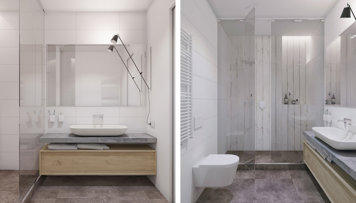 simple-modern white bathroom-design