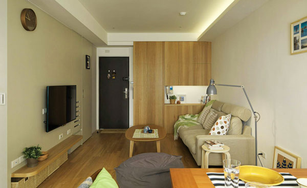 Simple Small Apartment Design Looks Stylish with Open Layout Ideas ...