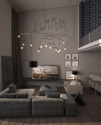 sleek living room concept