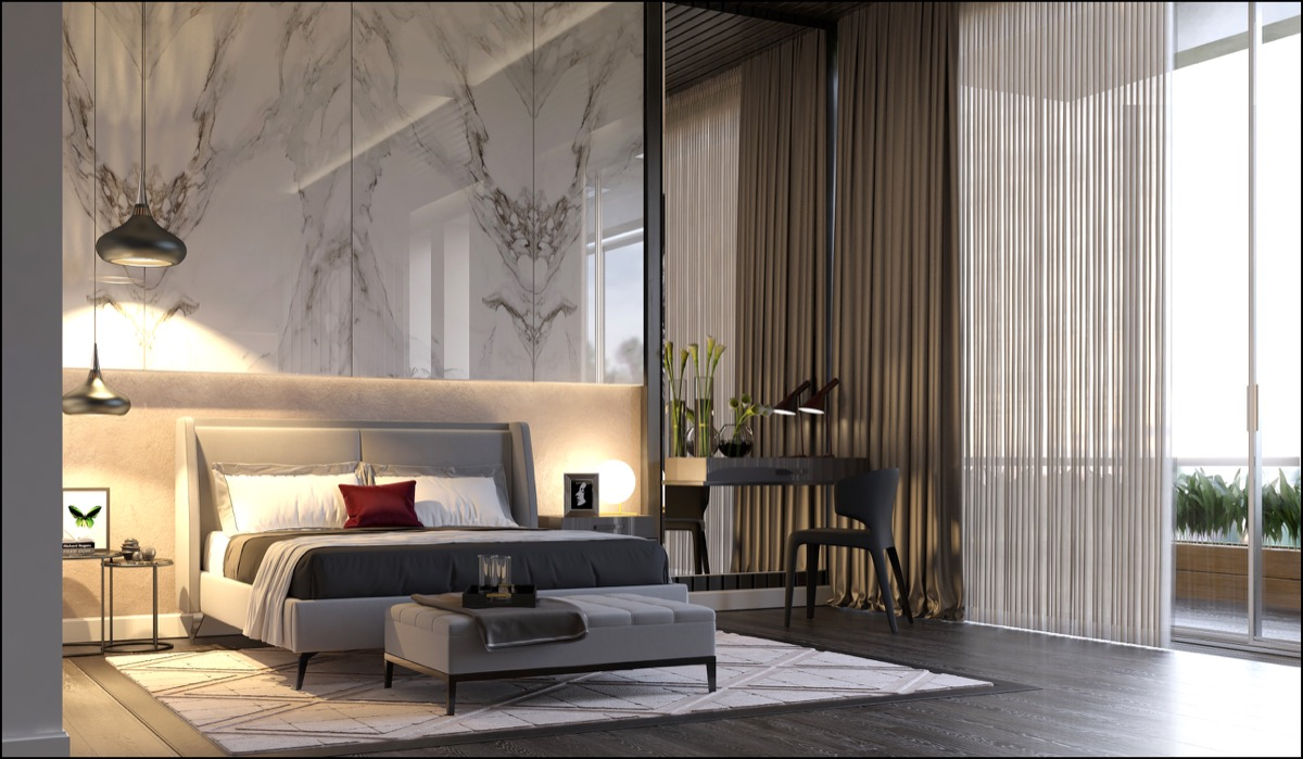 sophisticated-luxury-bedroom-with-marble-accent-wall