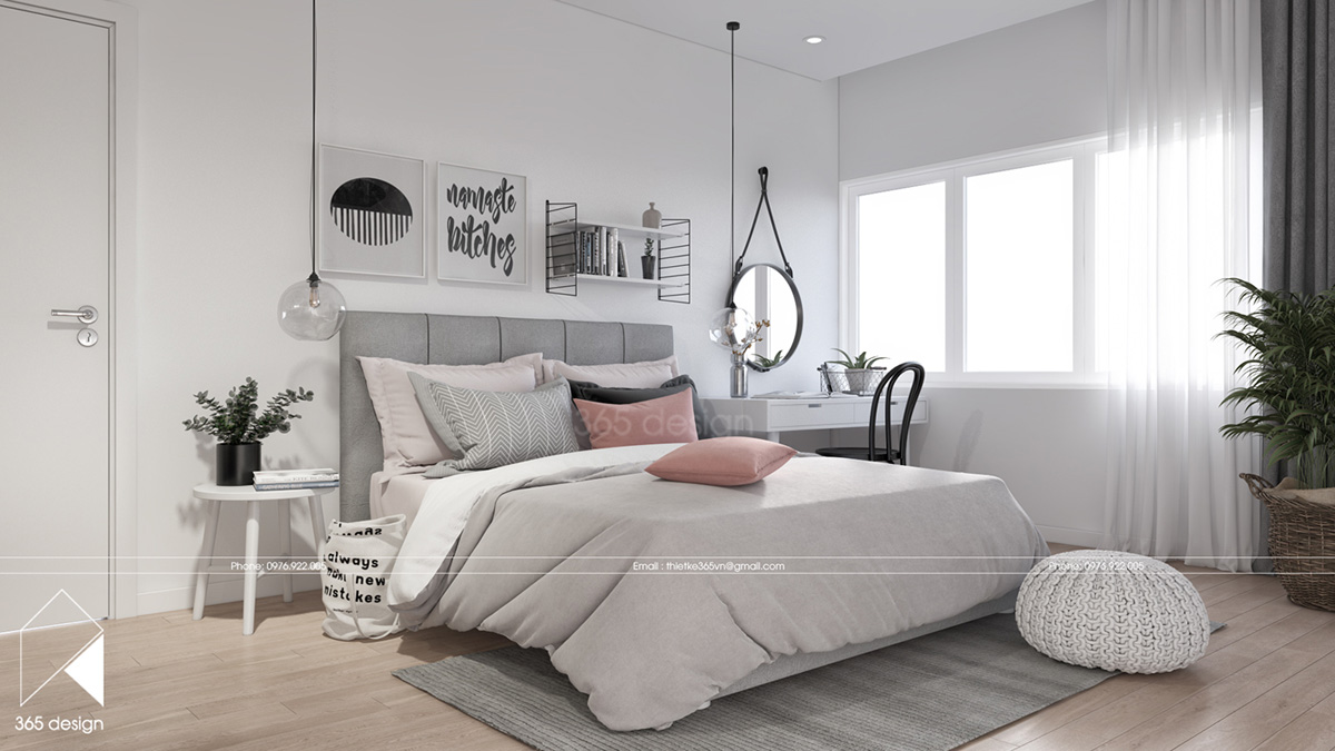 Modern scandinavian design for home interior completed for Unique master bedroom designs