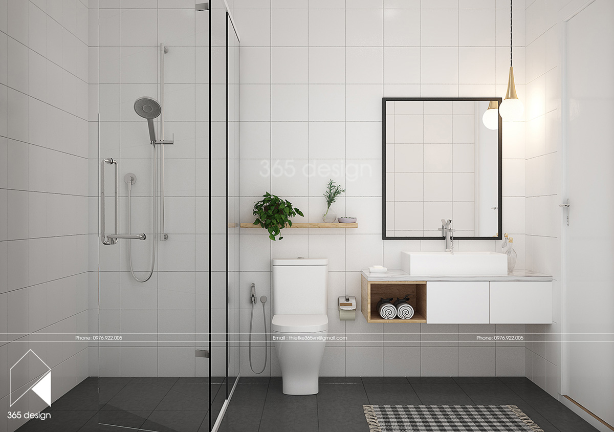 white-bathroom with Scandinavian style
