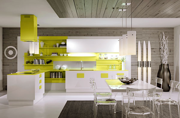 Open Kitchen Shelving For Sleek Kitchen Design Ideas