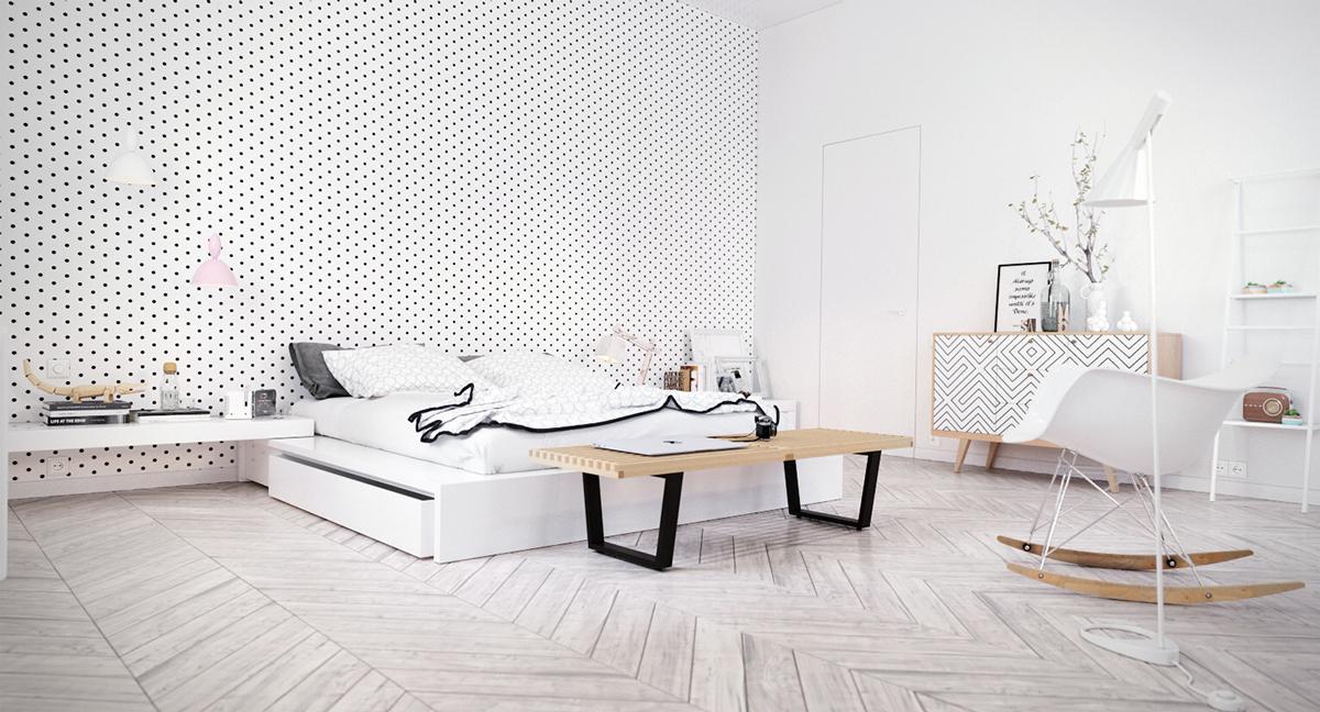 white scandinavian-bedroom-design-ideas