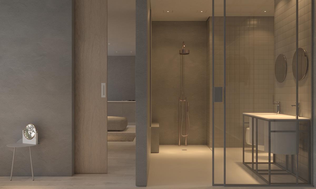 white-tile-bathroom concept