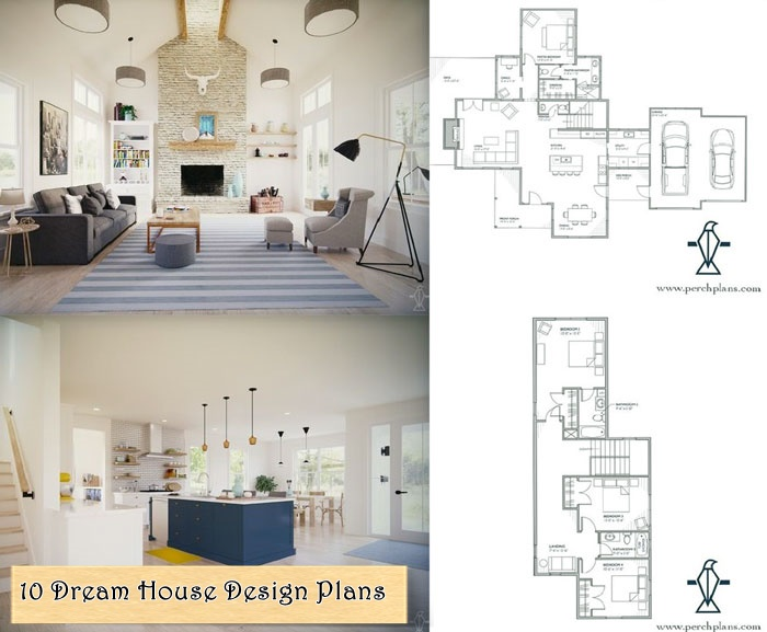 10 Dream House Design Plans Including Best Decoration Ideas Free!