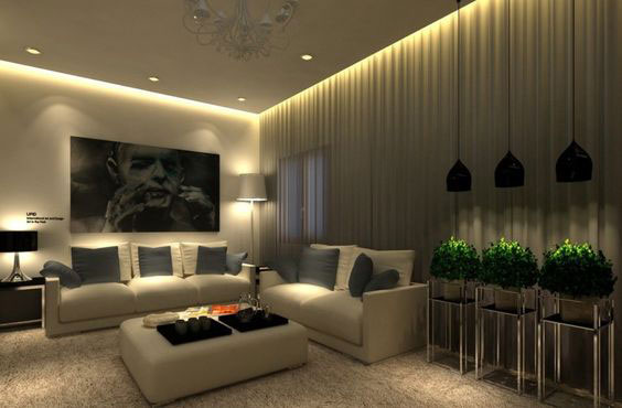 Modern Living Room Ceiling 1