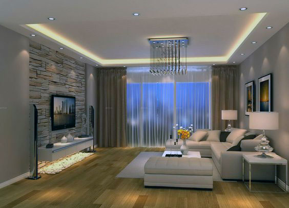 Modern Living Room Ceiling 2