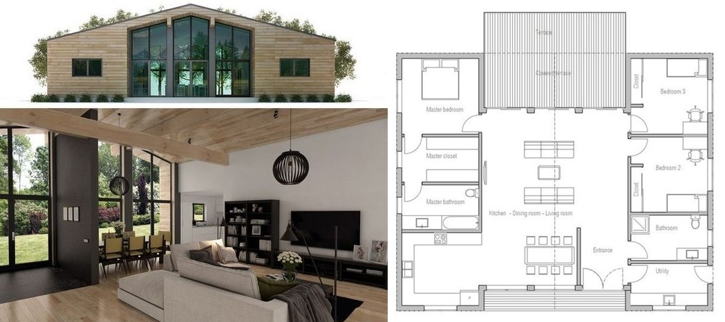 Modern ranch house design plans