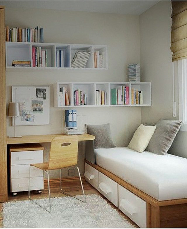 Simple bedroom design for small space check out the for Small and simple bedroom design