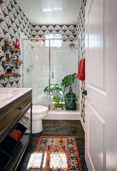 Bohemian small bathroom ideas