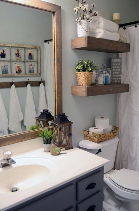 Simple small bathroom decor brings the ease inside of it - How to decorate a guest bathroom ...