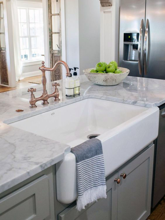 Modern two handle kitchen faucet