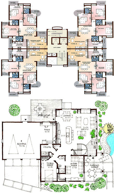 Ultra Modern Floor Plans