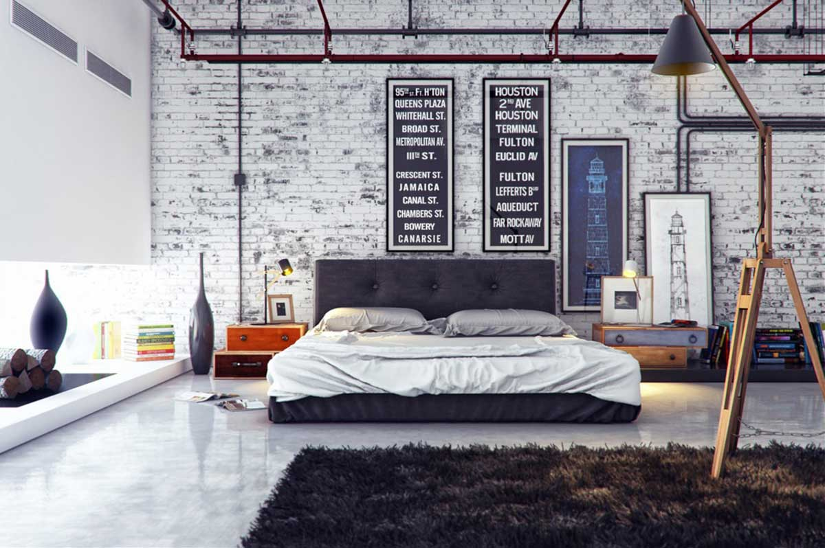 Industrial and nautical bedroom design styles two for Different bedroom styles