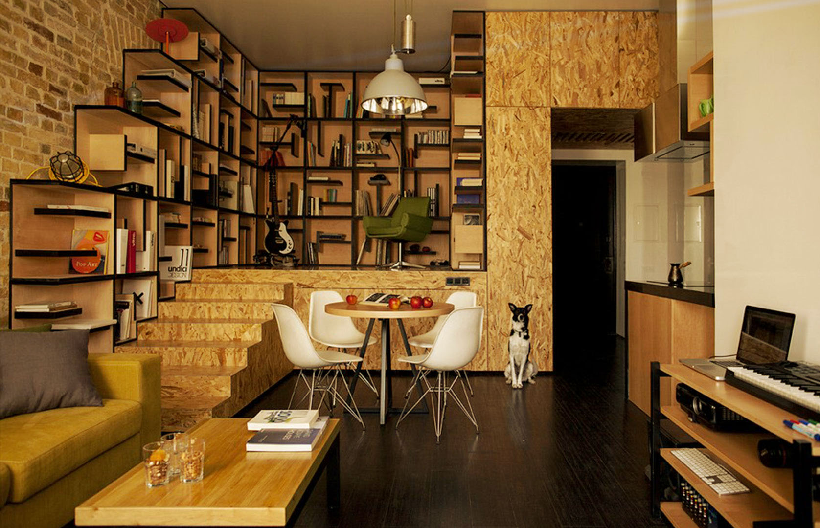 library apartment design