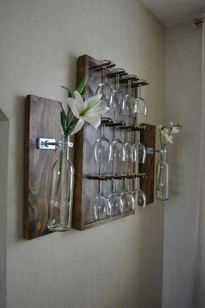 glass holder from wood