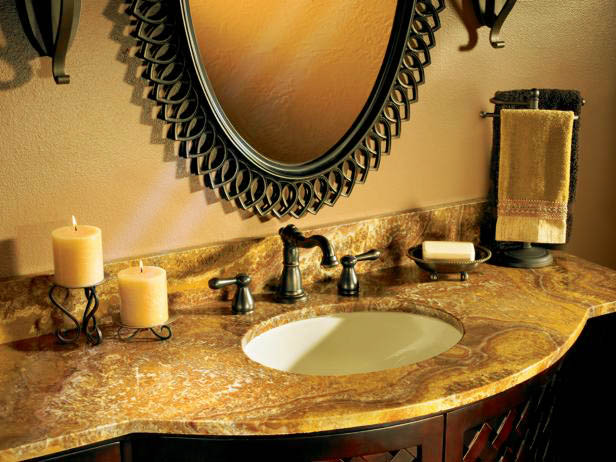 gorgeous bathroom counter decor