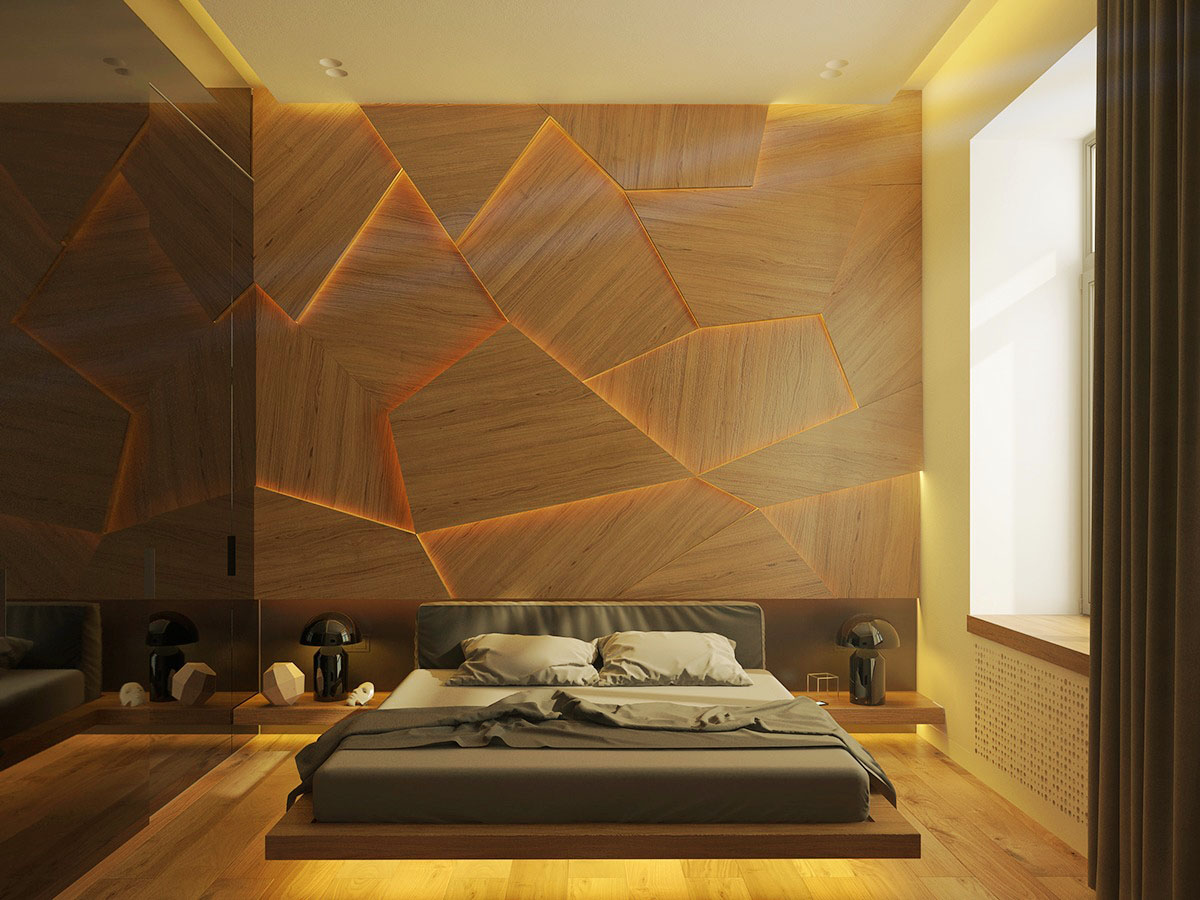 unique wall bedroom