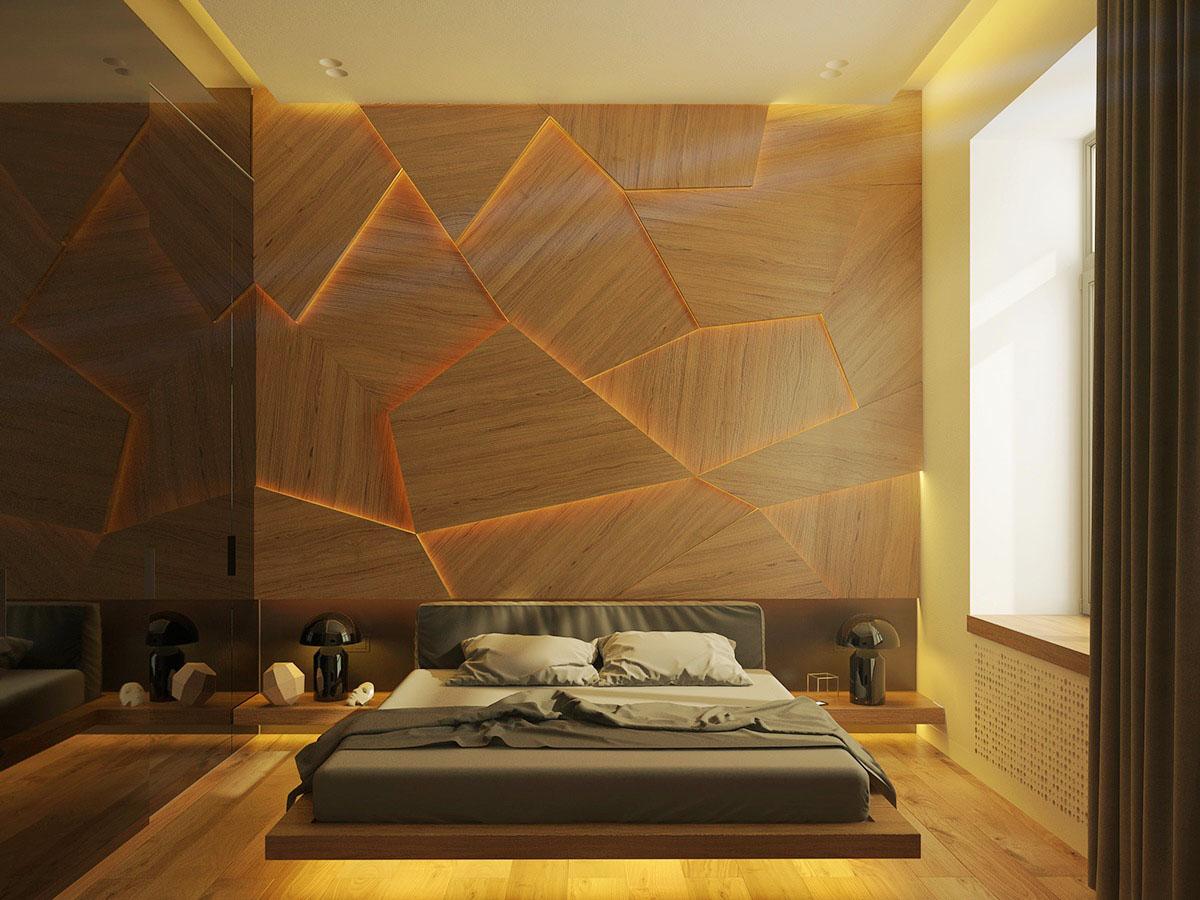 unique wall bedroom
