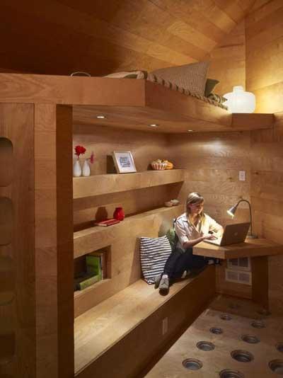multifunction wooden bedroom
