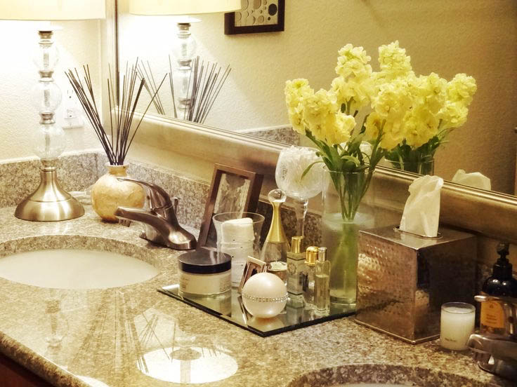 bathroom counter decor ideas