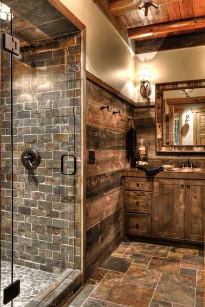 rustic bathroom design