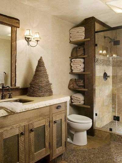 rustic style bathroom