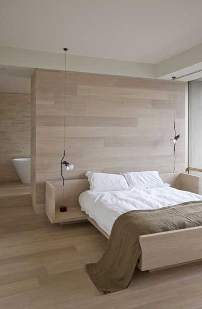 simple wooden bedroom