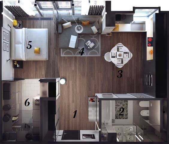 3 Inspiring Studio Apartment Design Plans That You Can