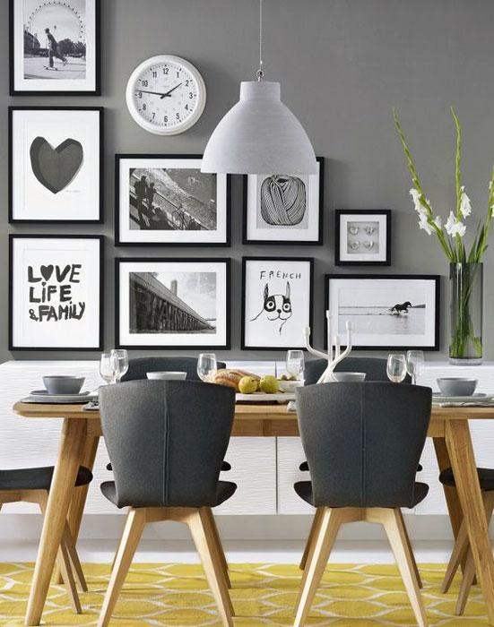 Spacious dining room interior design