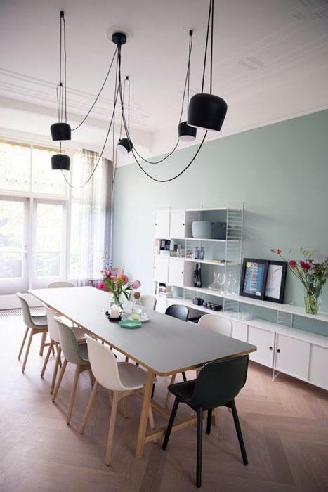 Modern spacious dining room interior design ideas