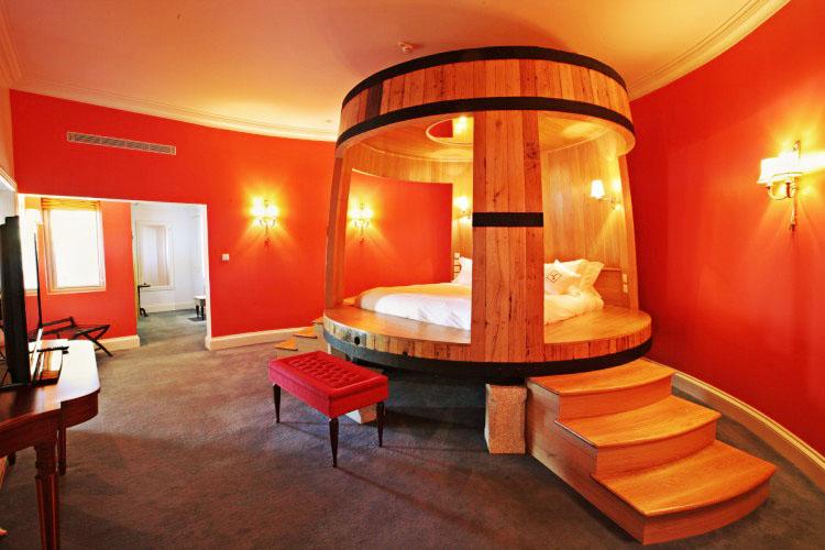 barrel bedroom