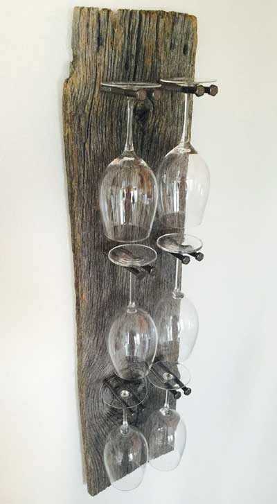 wooden glass hanger