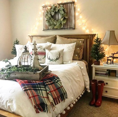 Christmas bedroom decoration 1