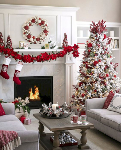 christmas living room decor 2