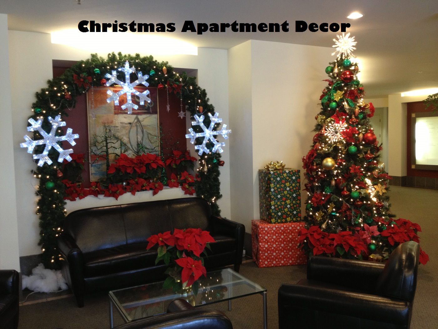 christmas apartment decor
