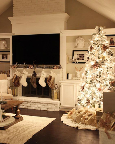 christmas large living room decor 2