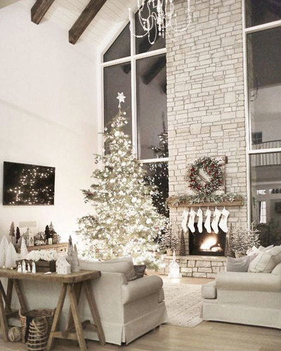 christmas large living room decor 3